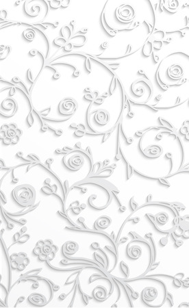 swill: White floral background