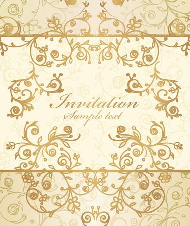 Vector frame and ornate pattern Illustration