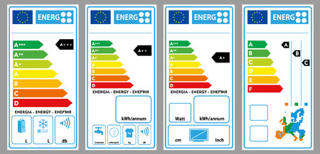 Energy labels  イラスト・ベクター素材