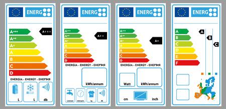 Energy labels 일러스트