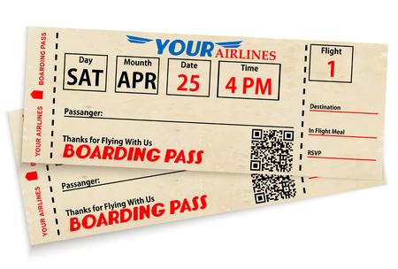 Boarding pass biglietti Vettoriali