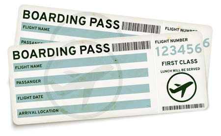 Boarding pass tickets