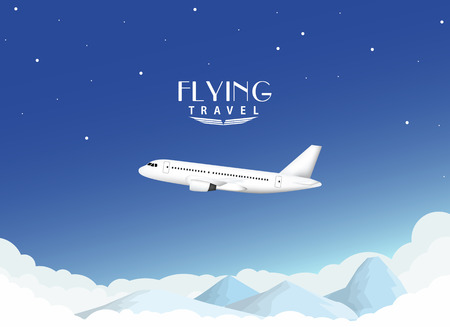 air liner: Airplane travel background