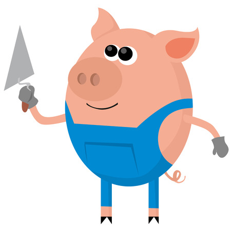 three little pigs: Pig as the bricklayer