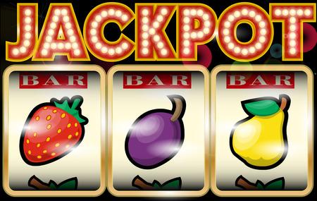 Slot Machine Illustration Jackpot Illustration