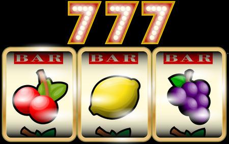 losing money: Slot Machine Illustration