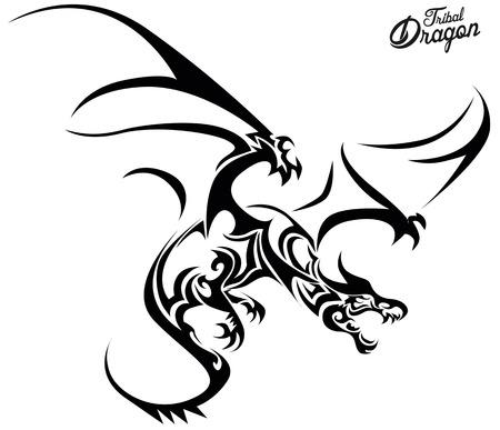 Tribal Dragon  イラスト・ベクター素材
