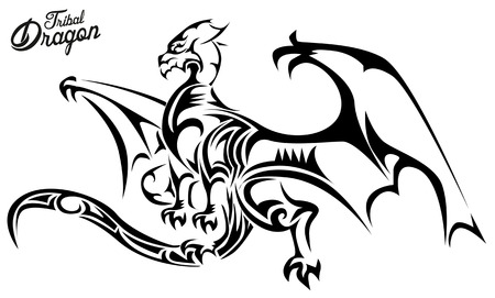 celtic symbol: Tribal Dragon Illustration