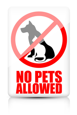 no entry: No pets allowed sign Illustration