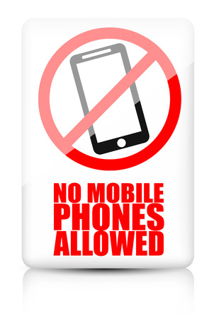 refrain: No mobile phone allowed vector sign