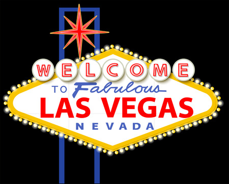 Welcome to fabulous Las Vegas Nevada sign Stock Illustratie