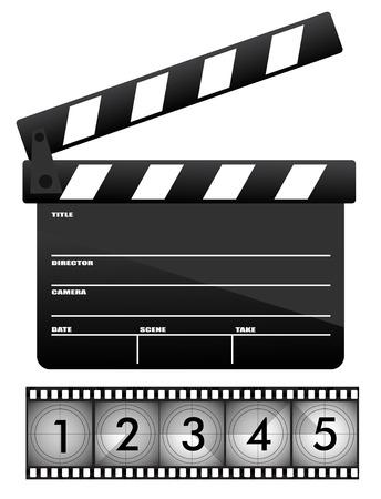 take action: Movie clapper board