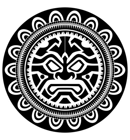 Polinesios tatuaje Ilustración de vector