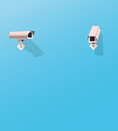 別のセキュリティ カメラを見てセキュリティ カメラ