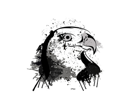 abstrakt: Abstract grunge eagle head