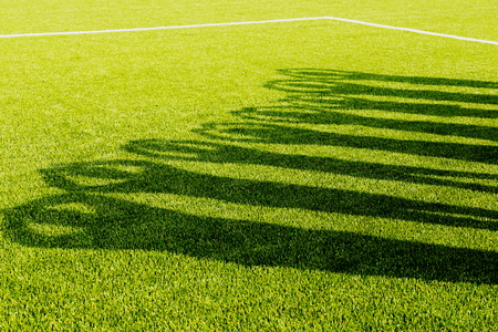 shadows on the field Banco de Imagens