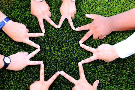 Hand star shape for Friendship
