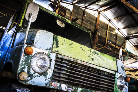 Vintage old truck car