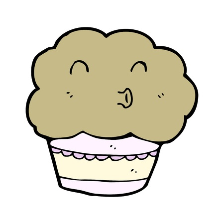cartoon muffin with expression Stock Vector - 15799266