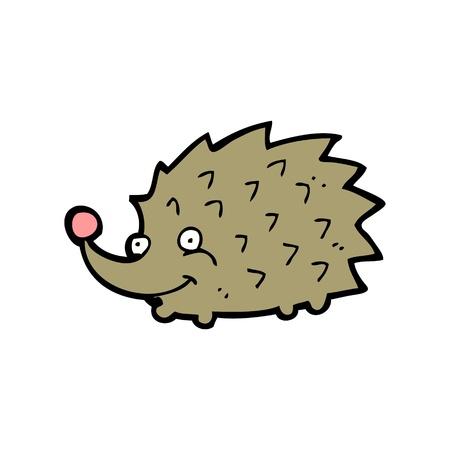 porcupine: cartoon porcupine with expression Illustration