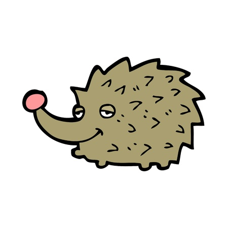 cartoon porcupine with expression Illustration