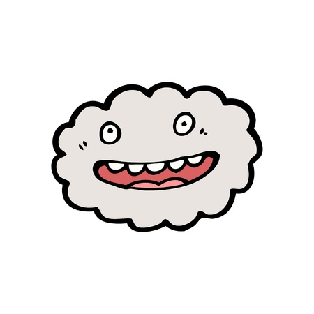 cartoon cloud with expression