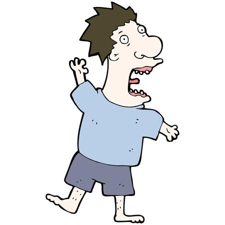 cartoon terrified man Stock Vector - 16968165