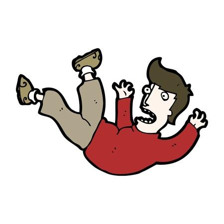 falling man: cartoon falling man