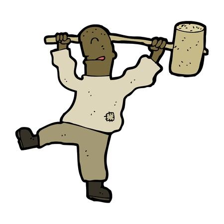 cartoon man with hammer Stock Vector - 16968184