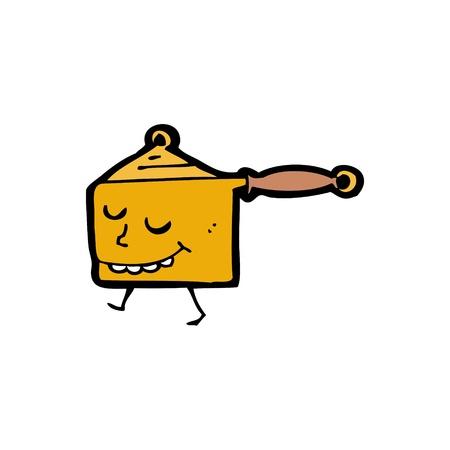 saucepan: cartoon saucepan