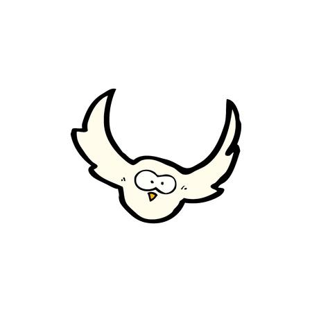 cartoon flying owl Stock Vector - 20239926