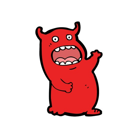 cartoon monster waving Stock Vector - 20239939