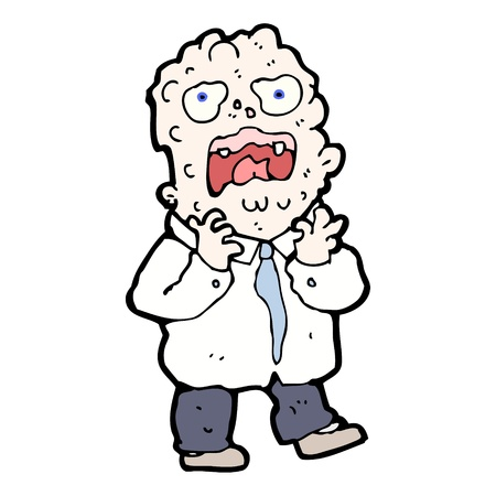 allergic reaction: cartoon man with allergic reaction