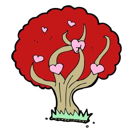 cartoon love heart tree Stock Vector - 16684156