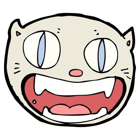 happy cat: verr�ckte gl�ckliche Katze Illustration