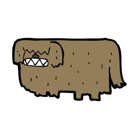 growling: cartoon growling dog Illustration
