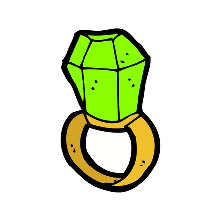 cartoon emerald ring