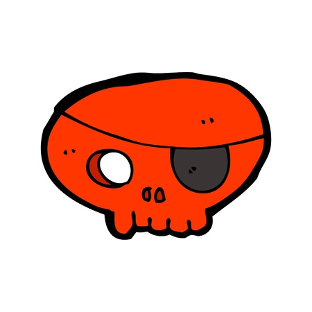 cartoon pirate skull Vector