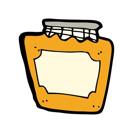marmalade: marmellata vasetto cartone animato Vettoriali