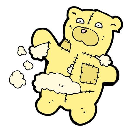stuffing: ripped teddy bear cartoon