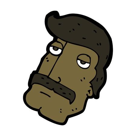 cartoon mustache man Vector