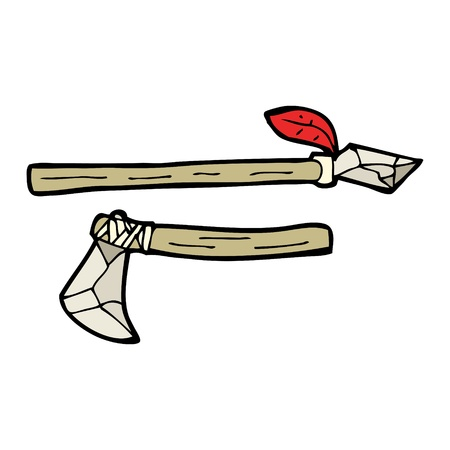 cartoon stone age weapons