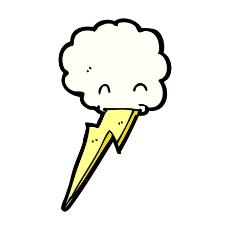 spitting: cartoon storm cloud spitting lightning Illustration