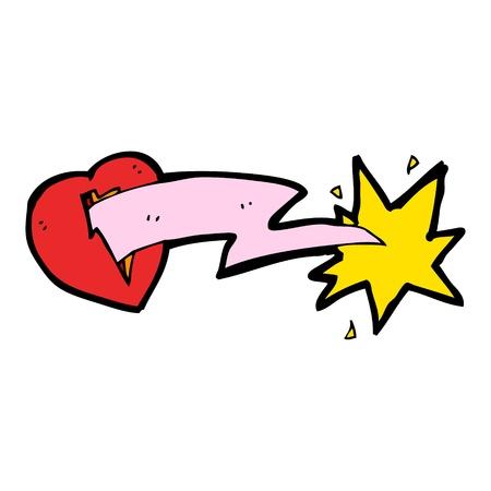 lightning heart cartoon Stock Vector - 16533376