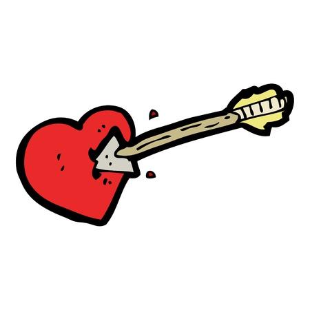 love struck heart cartoon Stock Vector - 16533280