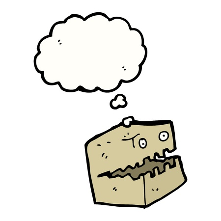 cartoon cardboard box monster Vector