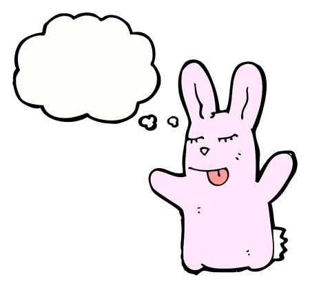 cartoon rabbit with speech bubble Illustration