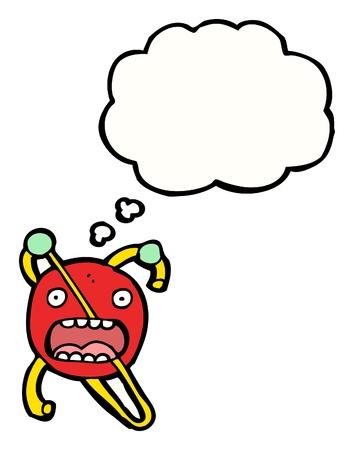 cartoon broken atom with speech bubble Stock Vector - 16330079
