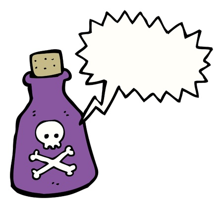cartoon poison potion bottle with stopper Stock Vector - 16330089