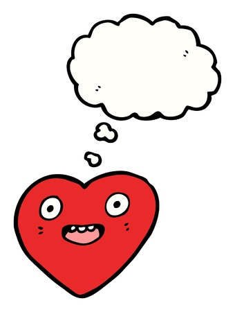 cartoon heart with speech bubble Stock Vector - 16240643